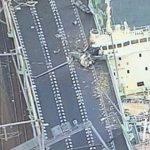 関空連絡橋「連絡道路が線路側にズレた」