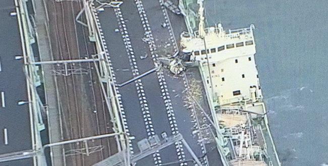 「関空連絡橋「連絡道路が線路側にズレた」タンカーが衝突~復旧の見通しは?(更新)」のアイキャッチ画像