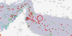 石油タンカー2隻が攻撃された場所