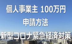 個人事業主 100万円 申請方法【新型コロナ緊急経済対策】